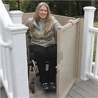 riverside porch lifts wheelchair elevator vpl vertical platform porch lift macs